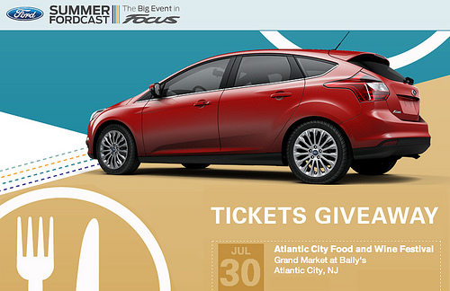 SUMMER FORDCAST AC food and wine tickets giveaway