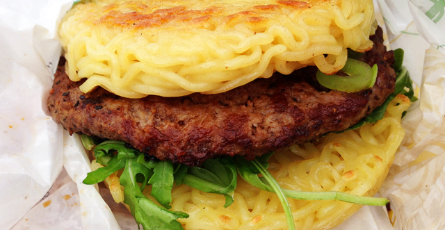 Ramen Burger at Smorgasburg