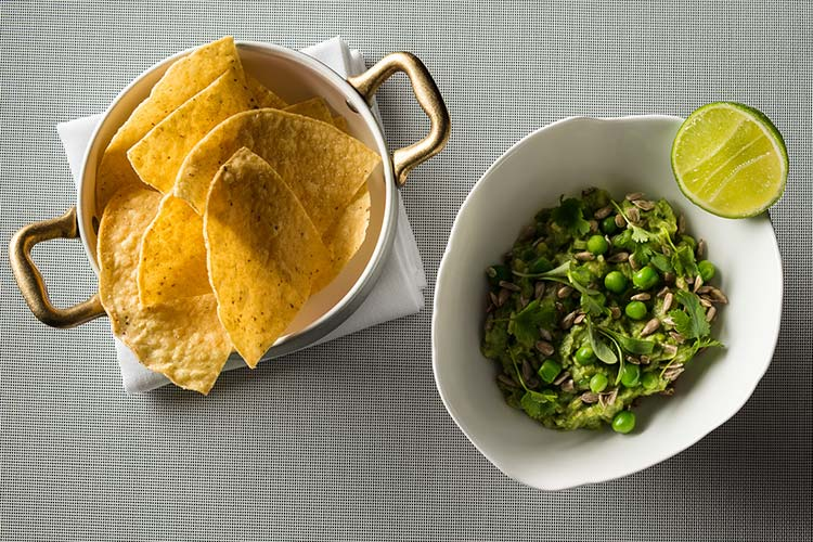 sweet pea guacamole by Jean-Georges